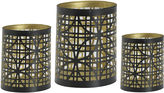 Asstd National Brand Luminaries Gold-Tone Geometric 3-pc. Candle Holder Set