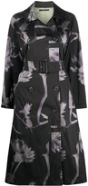 Paul Smith floral print trench coat