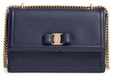 Salvatore Ferragamo Medium Ginny Leather Shoulder Bag - Blue
