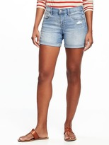 "Old Navy Slim Denim Midi Shorts for Women (5"")"