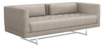 """Interlude Luca 75"""" Square Arm Loveseat Upholstery Color: Bungalow"""