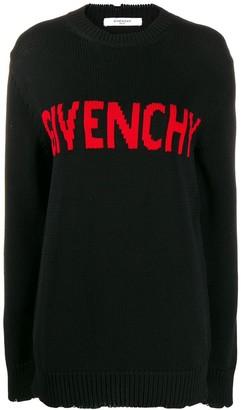 Givenchy Contrasting Logo Jumper