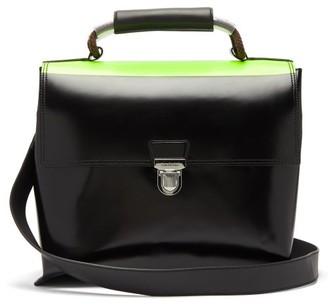 Acne Studios Push-lock Leather Bag - Mens - Black