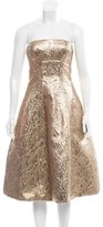 Oscar de la Renta Fall 2016 Metallic Dress
