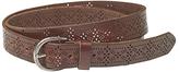 Fat Face Grace Laser Cut Out Leather Belt, Chocolate