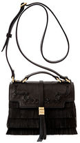Brian Atwood Charli Kid Suede Mini Crossbody Bag