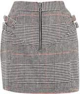 Topshop PETITE Checked Buckle Pelmet A-Line Skirt