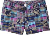 Women's Plus Madras Patchwork Shorts