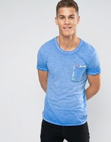 Jack & Jones Jack And Jones T-shirt With Floral Pocket Detail
