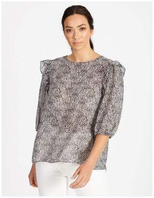 Basque Pebble Print Top