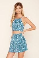 Forever 21 FOREVER 21+ Tropical Print Mini Skirt