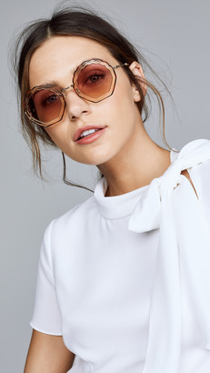 Chloé Tally Round Scalloped Sunglasses