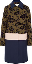 Mary Katrantzou Jamie flocked wool-blend coat