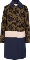 Mary Katrantzou Jamie flocked wool-blend coat