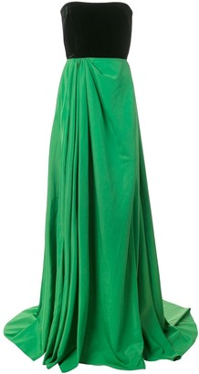 Alex Perry Dalton strapless gown