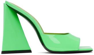 ATTICO Green Patent Devon Heeled Sandals