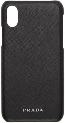 Prada Black Saffiano iPhone X/XS Case