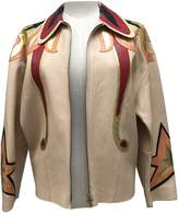 Miu Miu Beige Leather Leather Jacket for Women