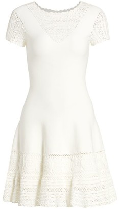 Jonathan Simkhai Alicia Crochet Mini Flare Dress