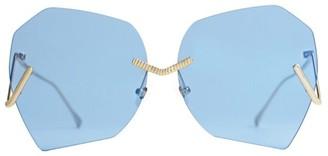 For Art's Sake Burton 63MM Geometric Sunglasses