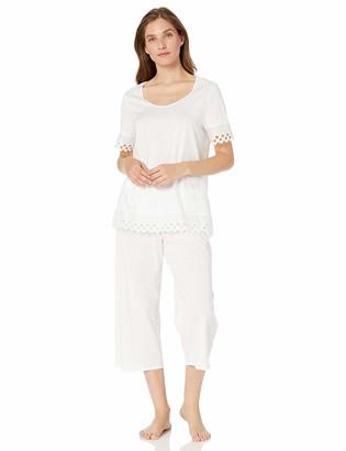 Hanro Women's Bella Short Sleeve Crop Pajama Set
