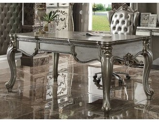 Astoria Grand Roza Executive Desk and Chair Set Astoria Grand Color: Antique Platinum
