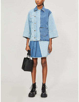 McQ Patchwork relaxed-fit denim jacket