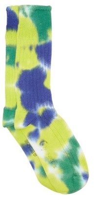 Suicoke X Corgi Tie-dye Cotton Socks - Green Multi
