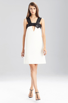 Josie Natori Duchess Satin Obi Mini Dress
