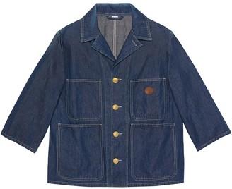 Gucci Patch-Pocket Denim Jacket