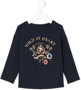 Lapin House - wild at heart print T-shirt - kids - Polyester/viscose - 6 yrs