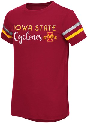 NCAA Girls 7-16 Iowa State Cyclones Bright Lights Tee - Size X Large