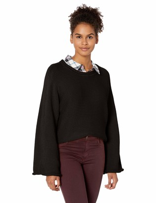 Jack by BB Dakota Junior's Talk Jersey Stitch Cropped Sweater