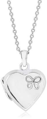 Rhona Sutton 4 Kids Children Butterfly Heart Locket in Sterling Silver
