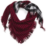 Capelli of New York Women's Reversible Plaid Scarf