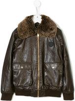 John Richmond Kids faux fur collar jacket