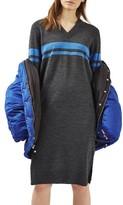 Topshop Petite Women's Oversize Sport Midi Dress