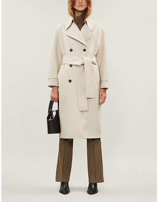 Harris Wharf London Double-breasted wool trench coat