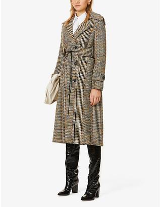 Victoria Beckham Belted wool-blend tweed coat