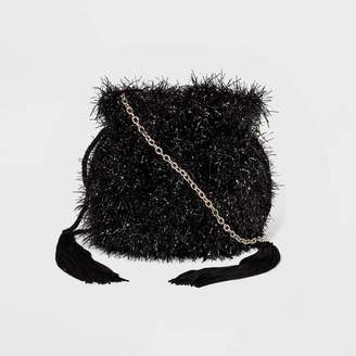 Estee & Lilly Tinsel Drawstring Pouch Clutch -