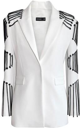 L'momo Single Breasted Chain Sleeve Blazer