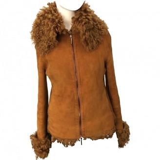 Gianfranco Ferre Orange Shearling Coat for Women