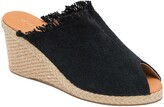 Andre Assous Popy Frayed Wedge Mule