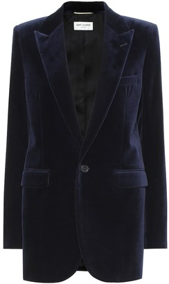 Saint Laurent Cotton velvet blazer