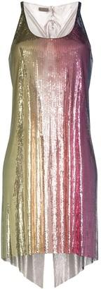 Paco Rabanne Rainbow Chain Mail Mini Dress