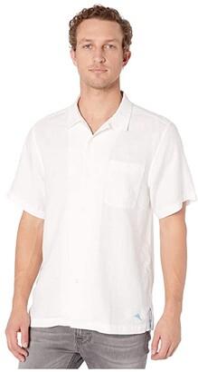Tommy Bahama Sea Glass Camp Shirt (White) Men's Clothing
