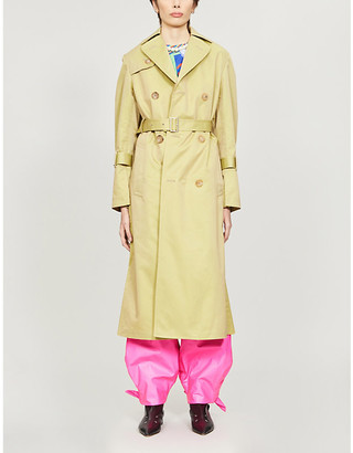 Junya Watanabe Double-breasted cotton-blend trench coat
