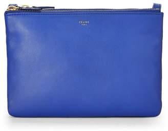 Celine Blue Leather Trio Small