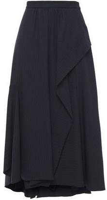 3.1 Phillip Lim Asymmetric Pinstriped Woven Midi Skirt
