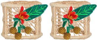 Mercedes Salazar Set Of 2 Medium Pineapple Candle Holder